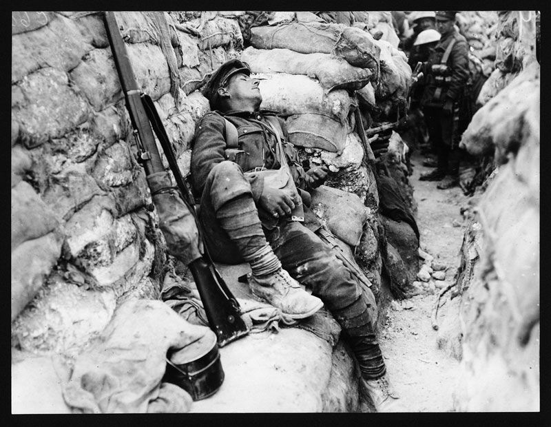 sleeping solider world war 1